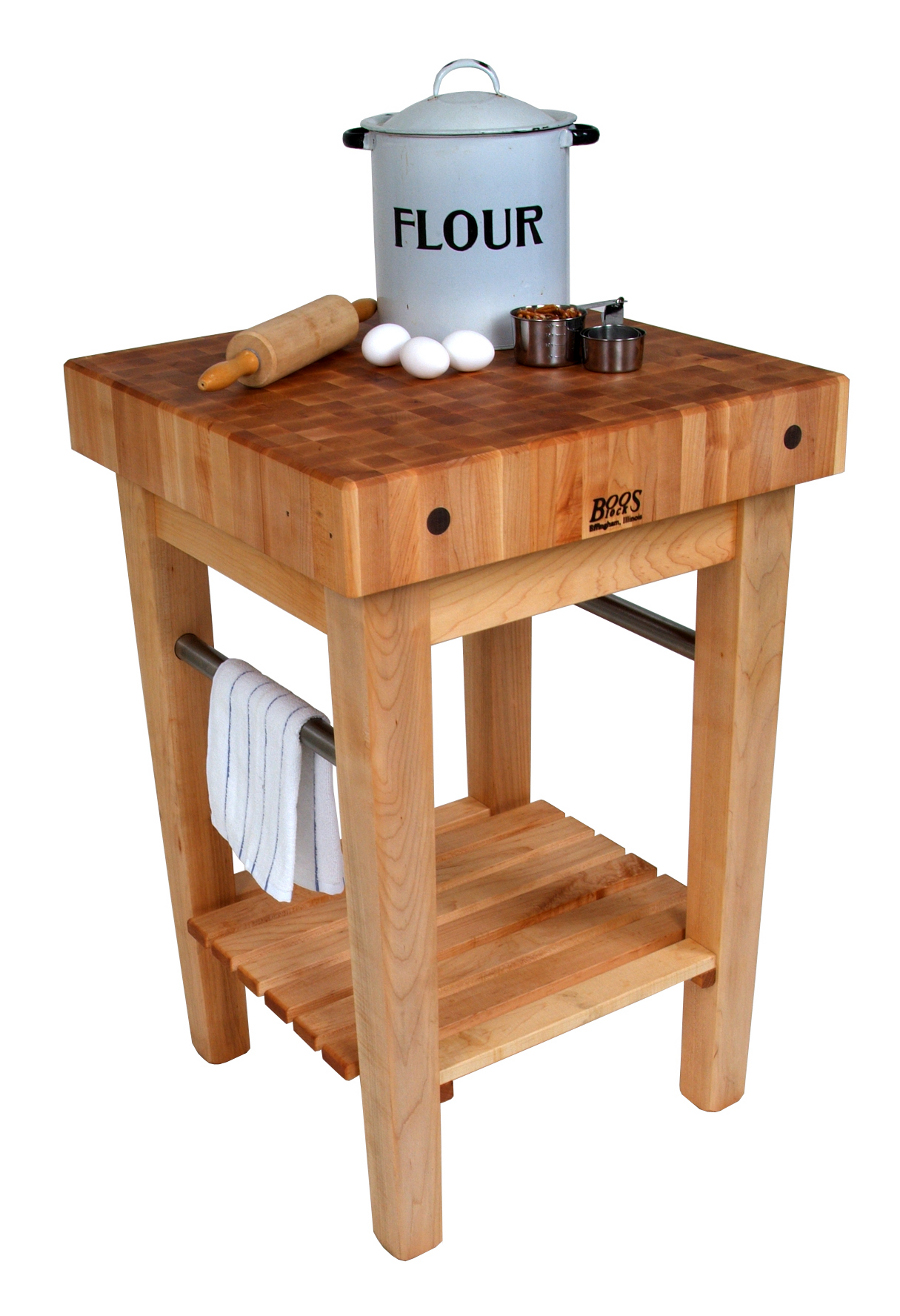 John Boos Pro Prep Block – Maple Butcher Block Stand or Cart
