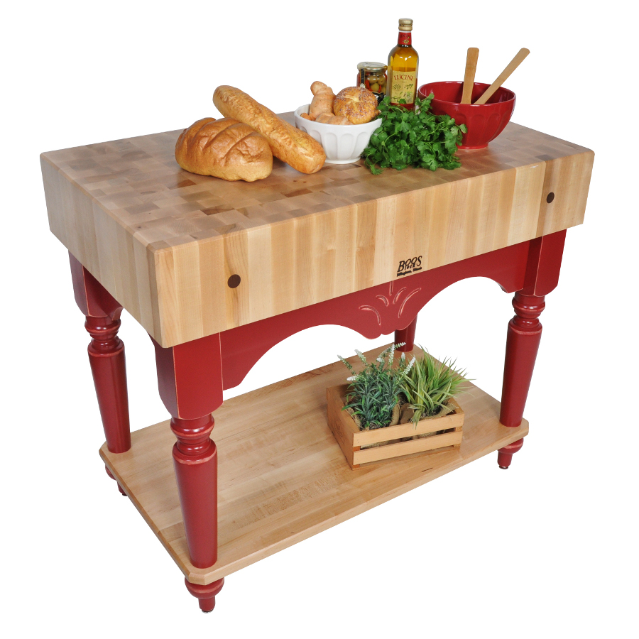 "Boos Maple Calais – 7"" Thick Butcher Block on French Farm Legs"