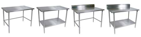 John Boos Stainless Steel-Top Commercial Work Tables