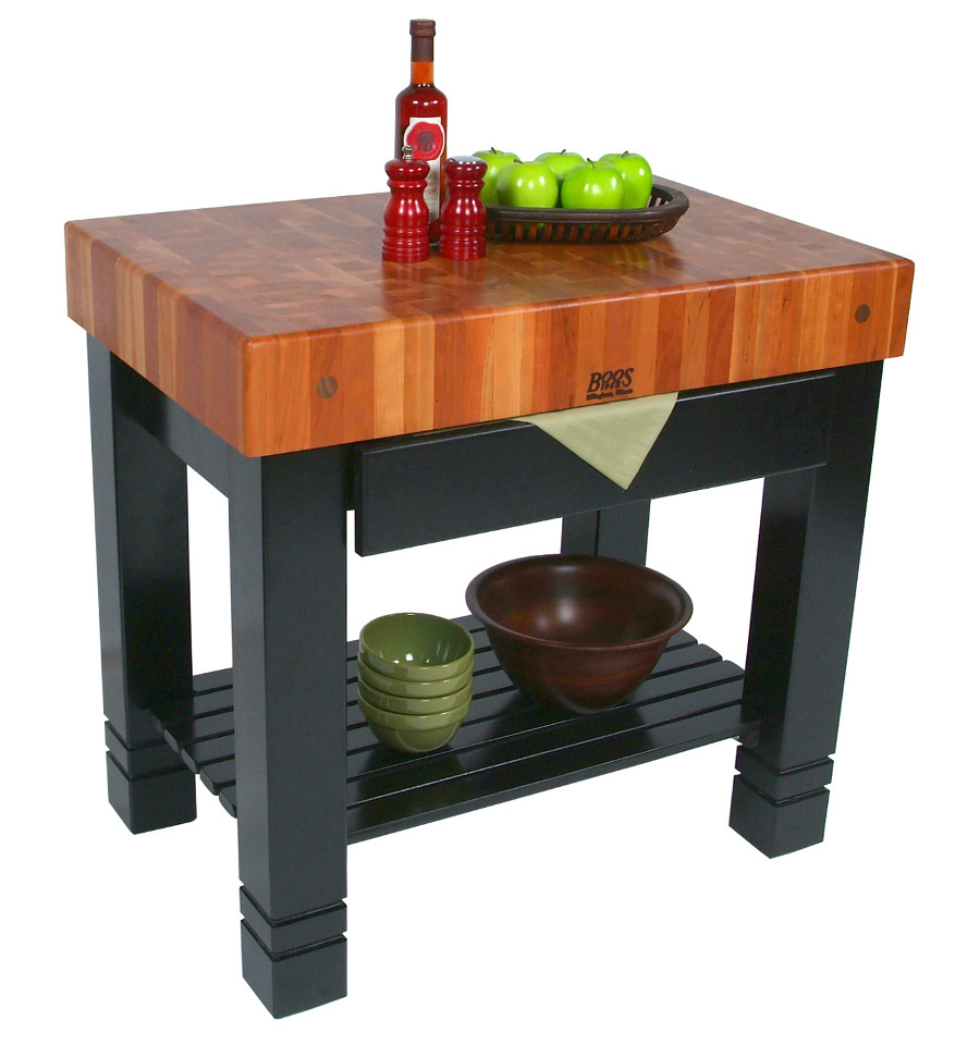 Bloc de Foyer - End Grain Cherry Butcher Block with Drawer, 36