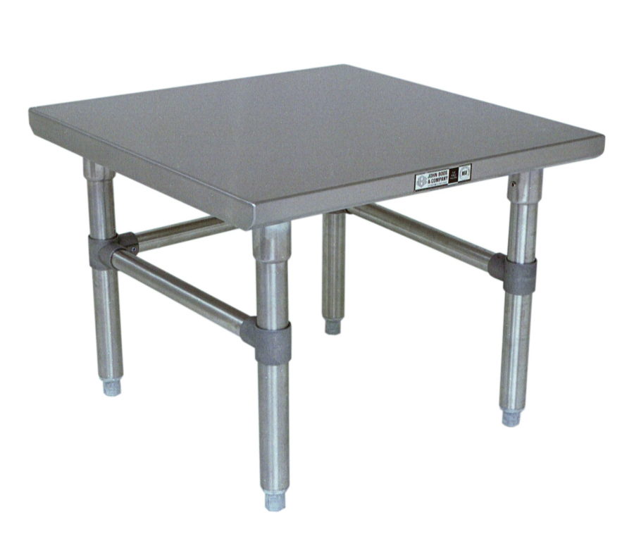 Boos Machine Stand - 16-GA Stainless Steel Top, Choose SS or GS for Base