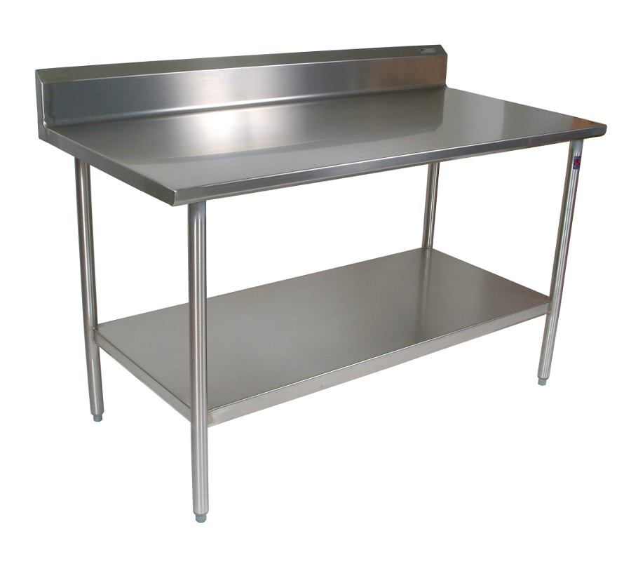 John Boos Stainless Steel Work Table W Shelf 14ga Top