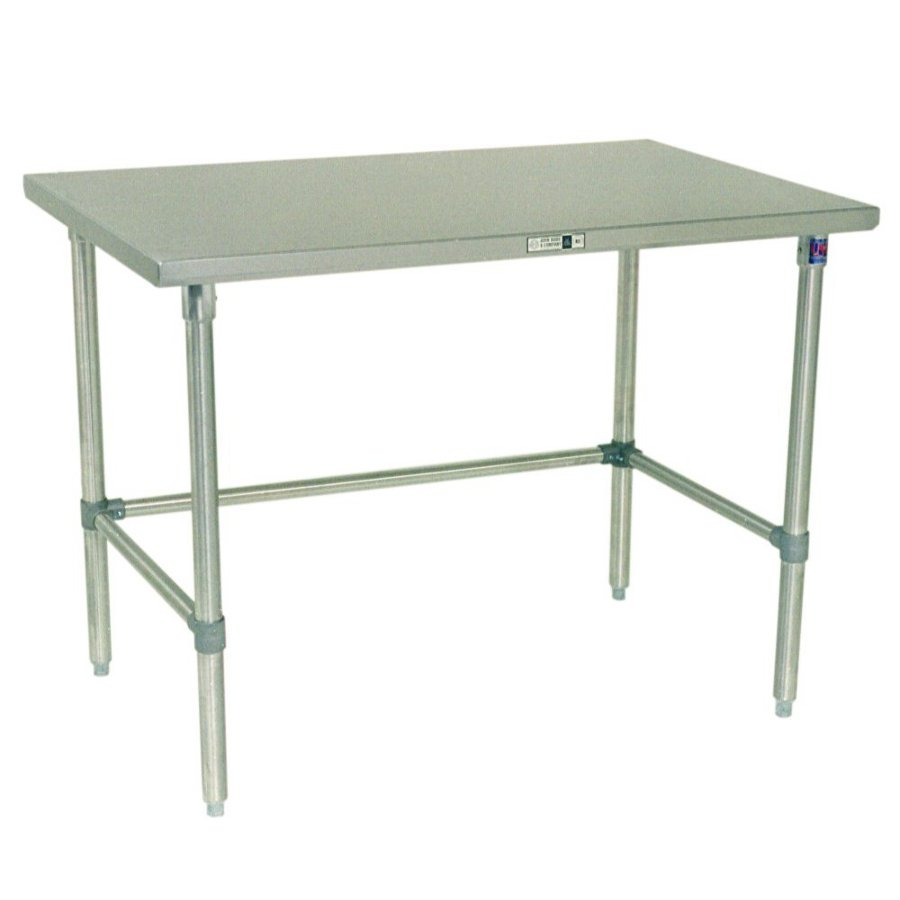 John Boos Steel Work Table - 16-Ga. SS Top, GS Base