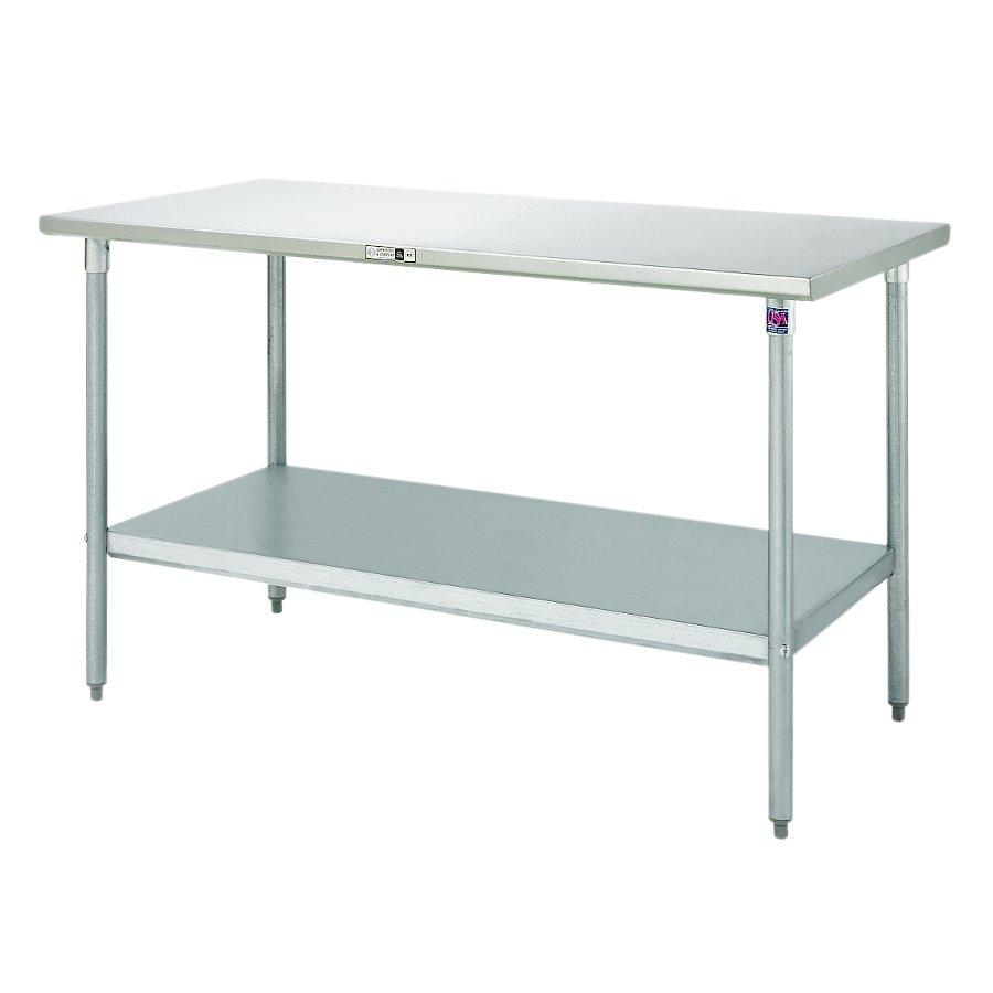 John Boos Steel Work Table - 16-Ga. SS Top, 18-Ga. GS Base & Shelf