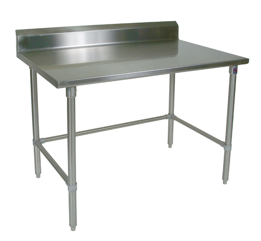Boos All-Stainless Steel Work Table - 16-Gauge SS Top, Riser & Legs