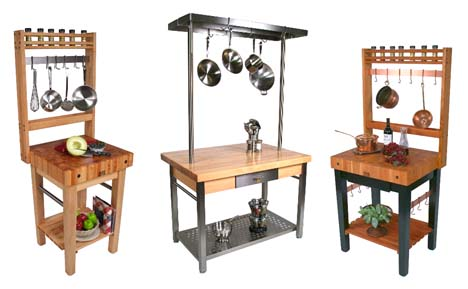 Boos work stations and pot racks