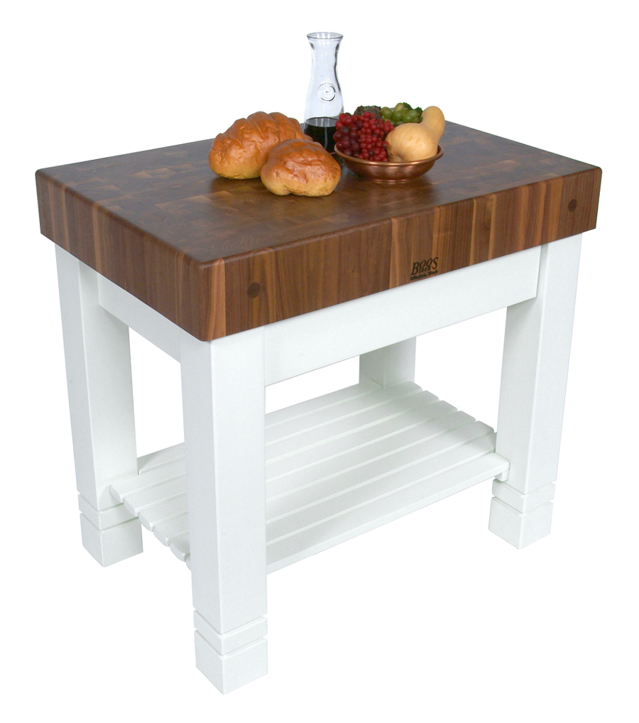 Boos Walnut Homestead Butcher Block, Alabaster Base - 36