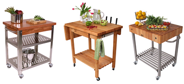 Boos Butcher Block Carts