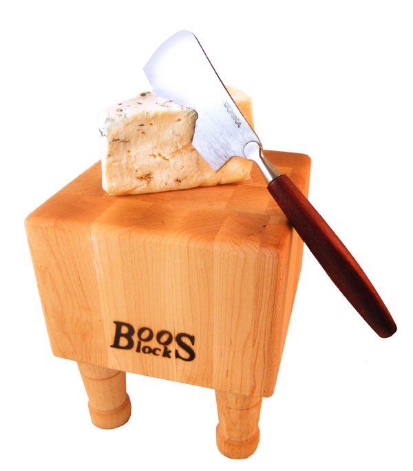 John Boos Mini Butcher Block Plus Cheese Hatchet Gift Set