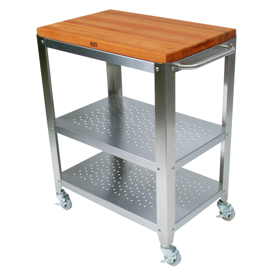 Kitchen Trolley Butcher Block : Butcher Block Kitchen Carts John Boos Catskill
