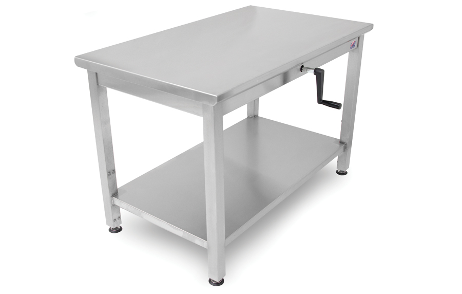 Hydraulic Work Tables : Boos ergonomic adjustable height ss work table