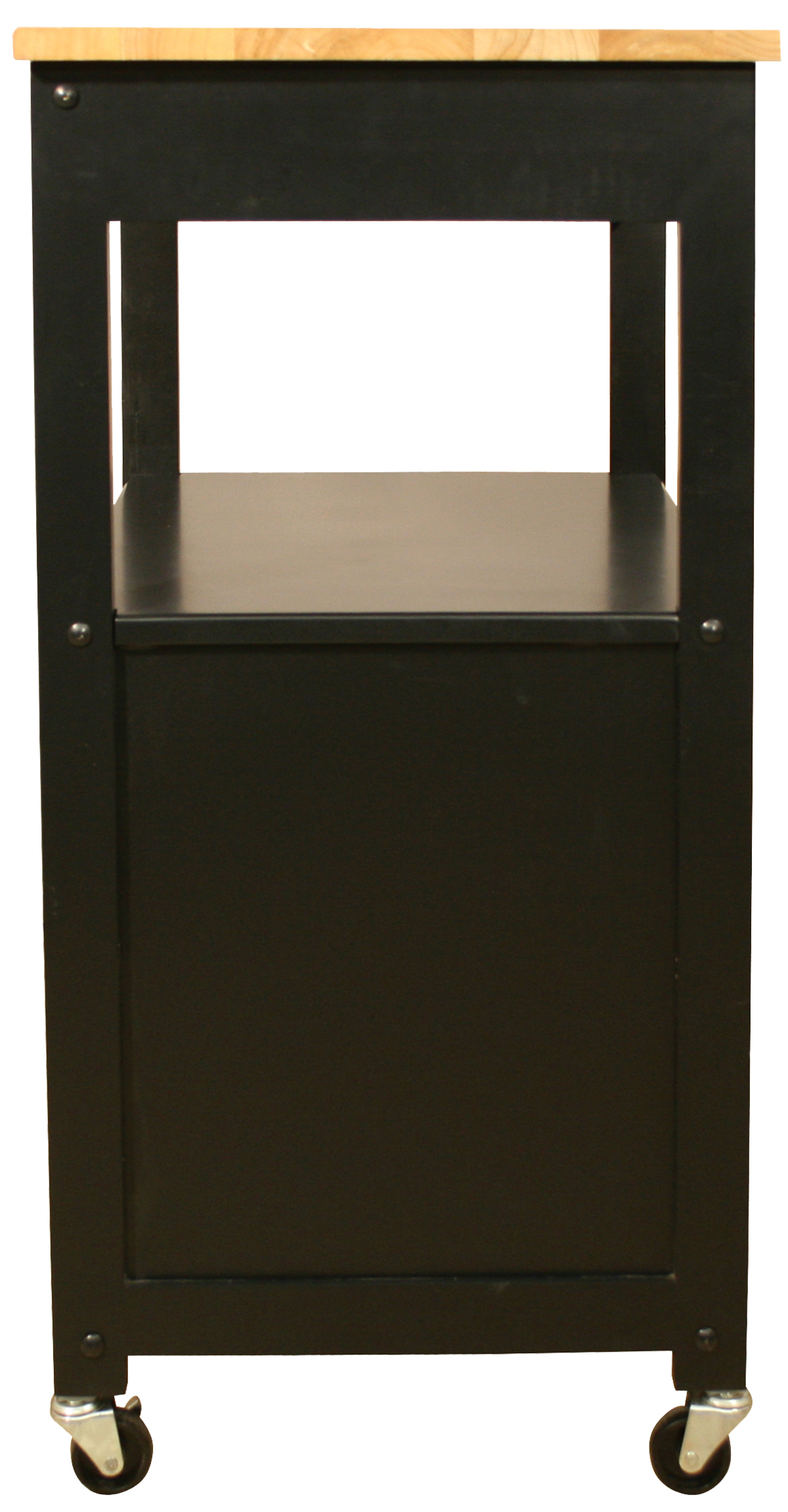 catskill trolley with hardwood top and black base kitchen open shelving the best inspiration amp tips the