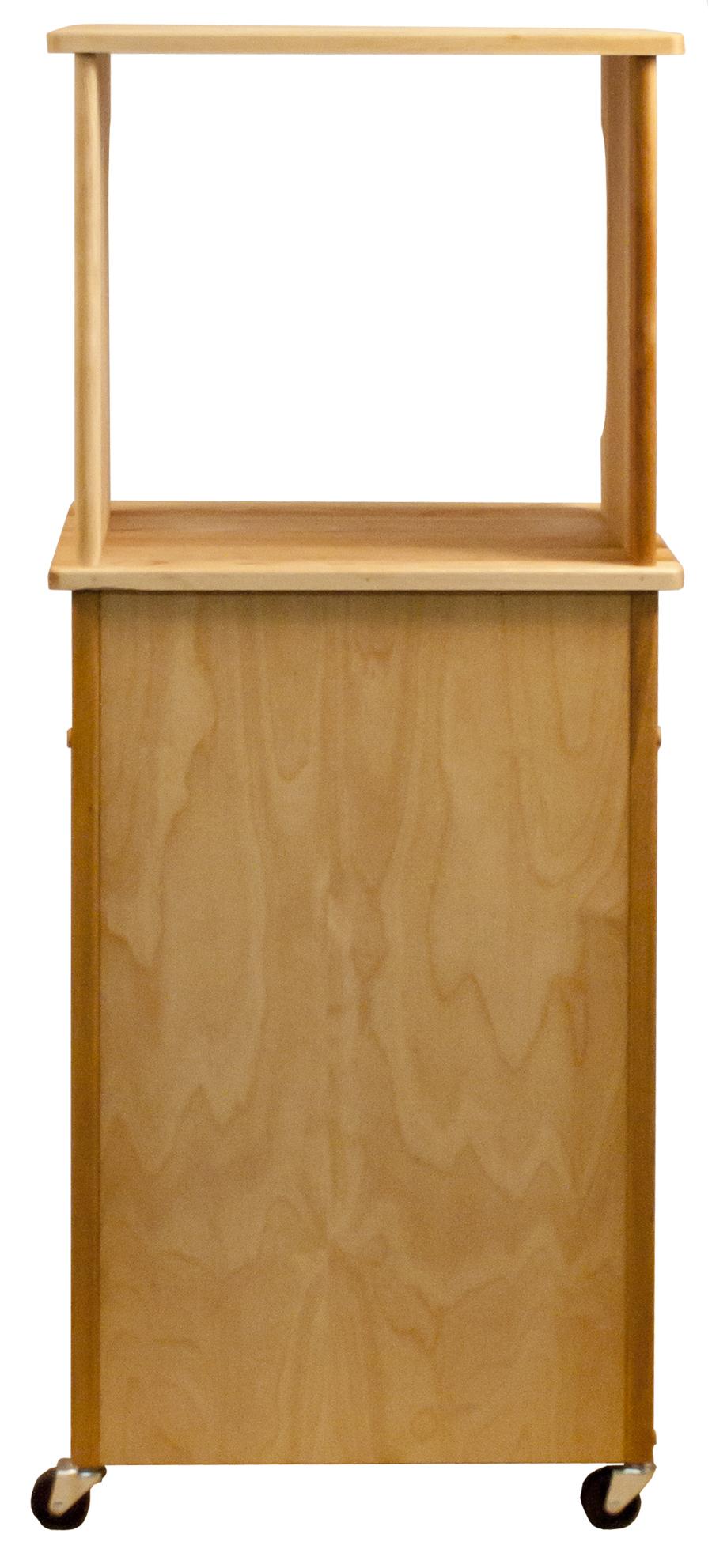 catskill microwave cart open shelf closed cabinet decordots kitchen