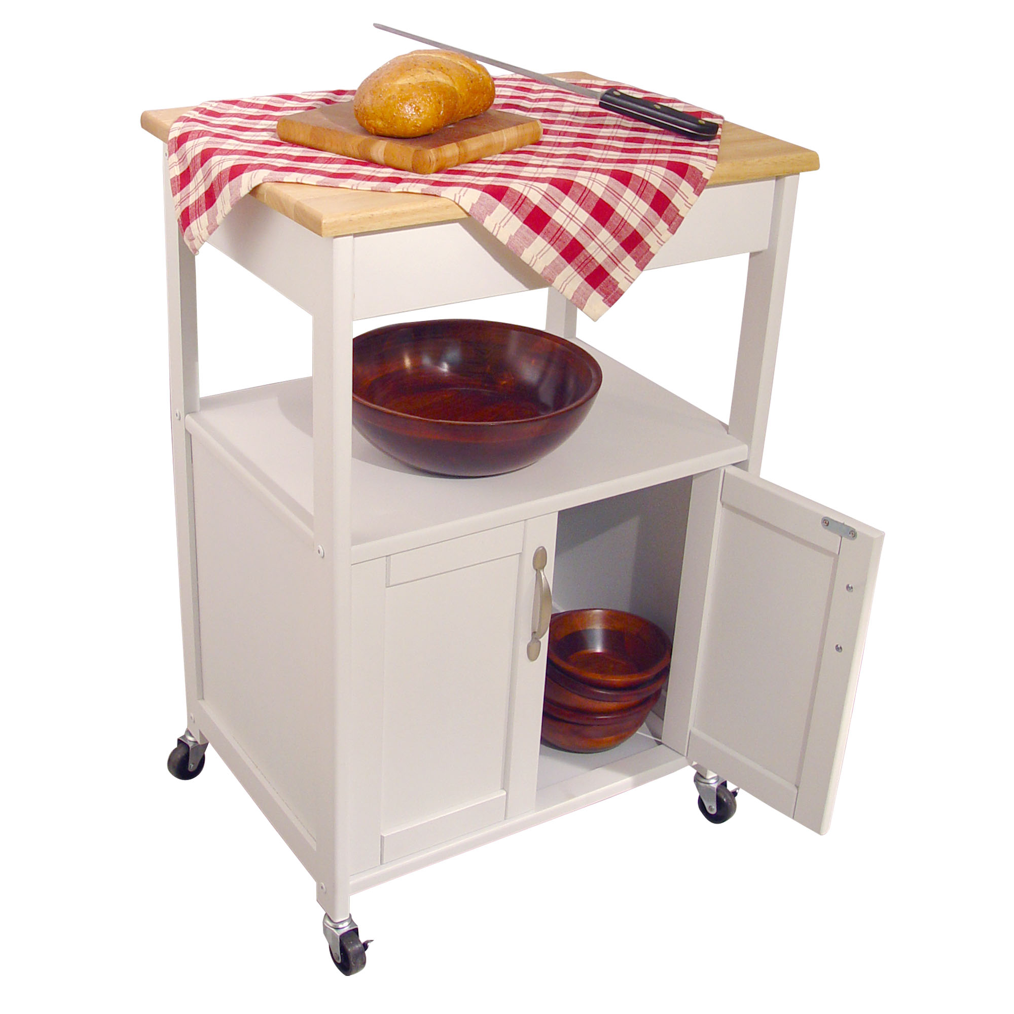 white kitchen trolley with lacquered hardwood top best microwave cart top selling microwave carts