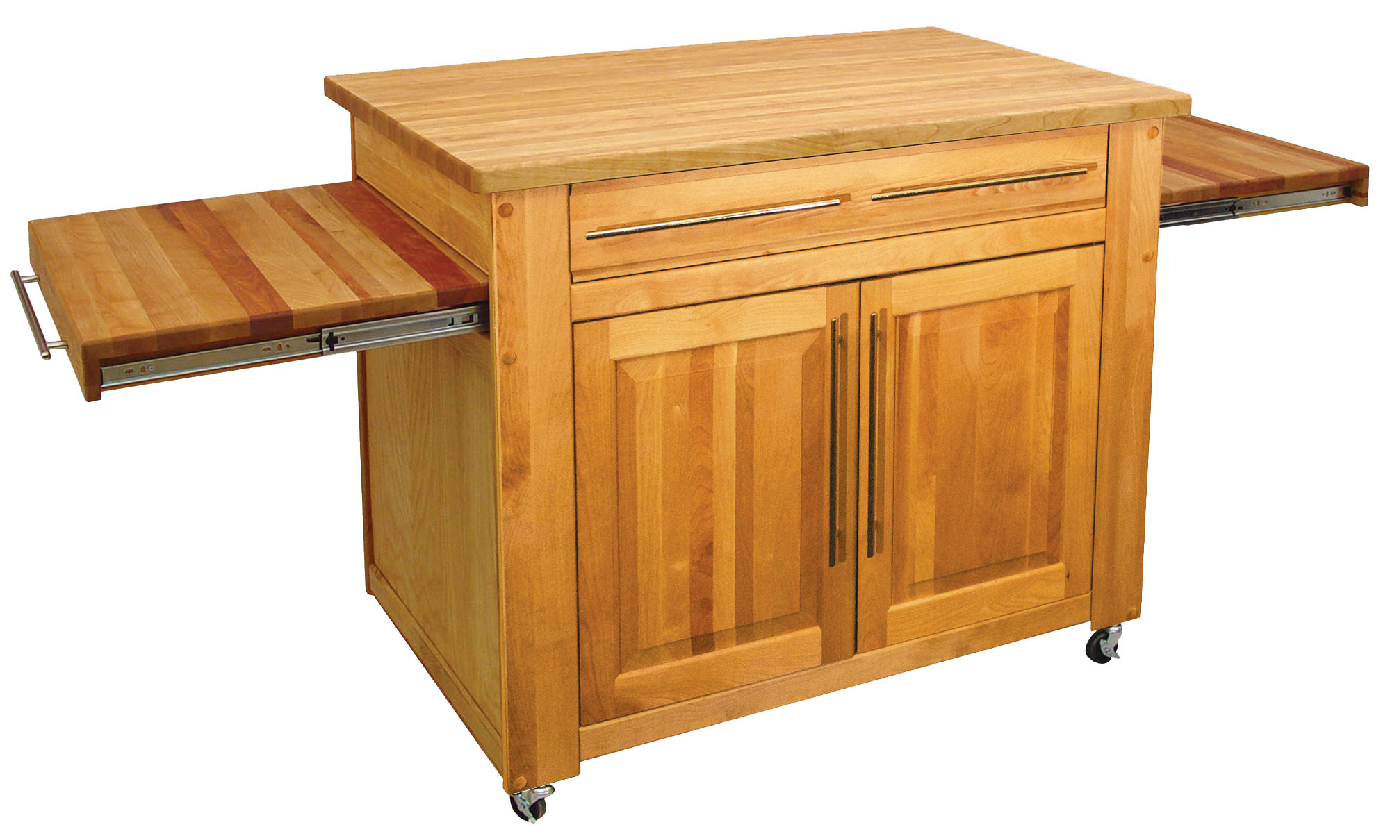 Catskill's Empire Work Center – Butcher Block Island, Pull-Out Leaves