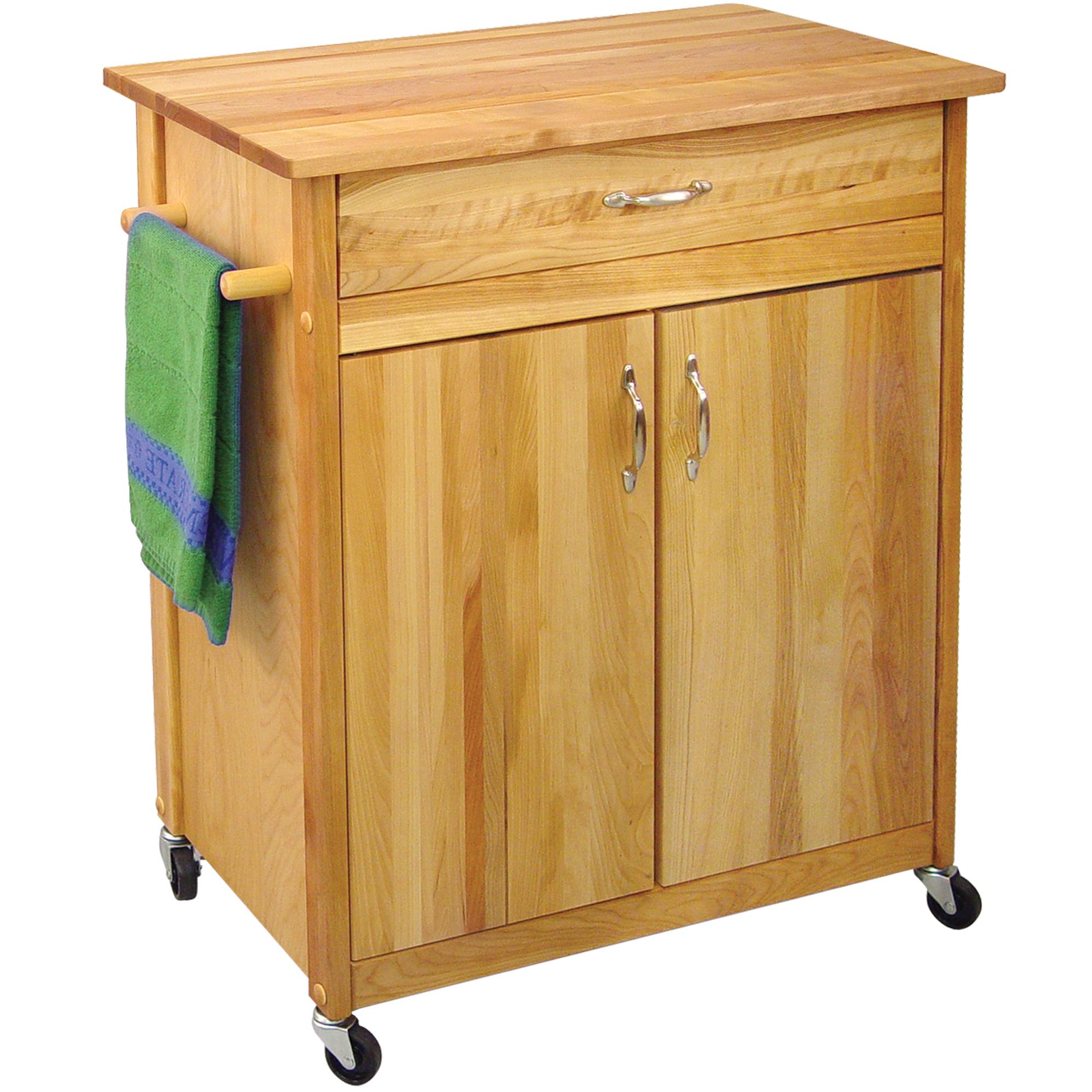 catskill mid size island butcher block cart leaf. Black Bedroom Furniture Sets. Home Design Ideas