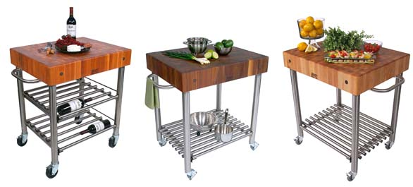 Boos Cucina D'Amico kitchen carts