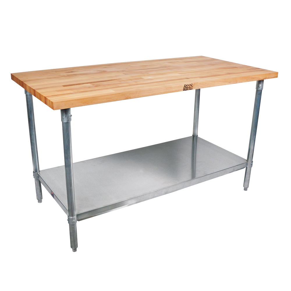 Wood Top Kitchen Work Tables