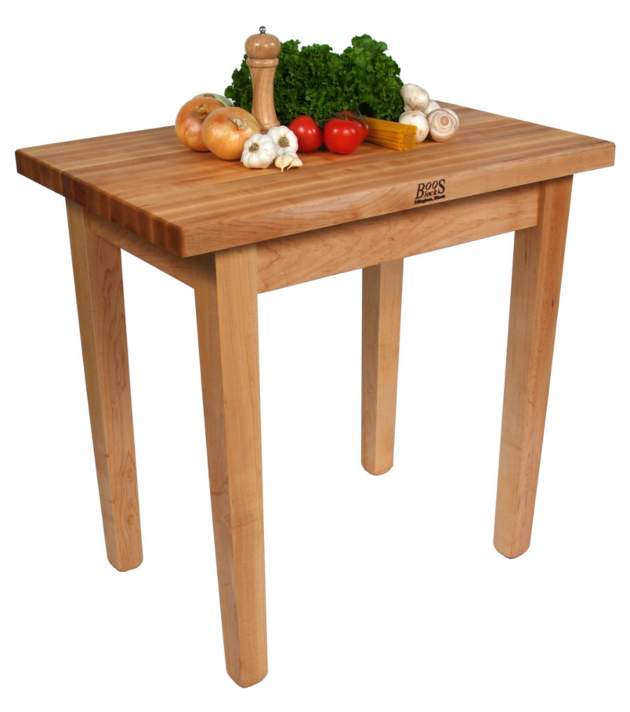 John Boos Country Style Butcher Block Kitchen Dining Table
