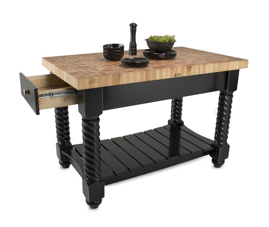 John Boos Tuscan Isle Kitchen Island - with End-Grain Maple Top
