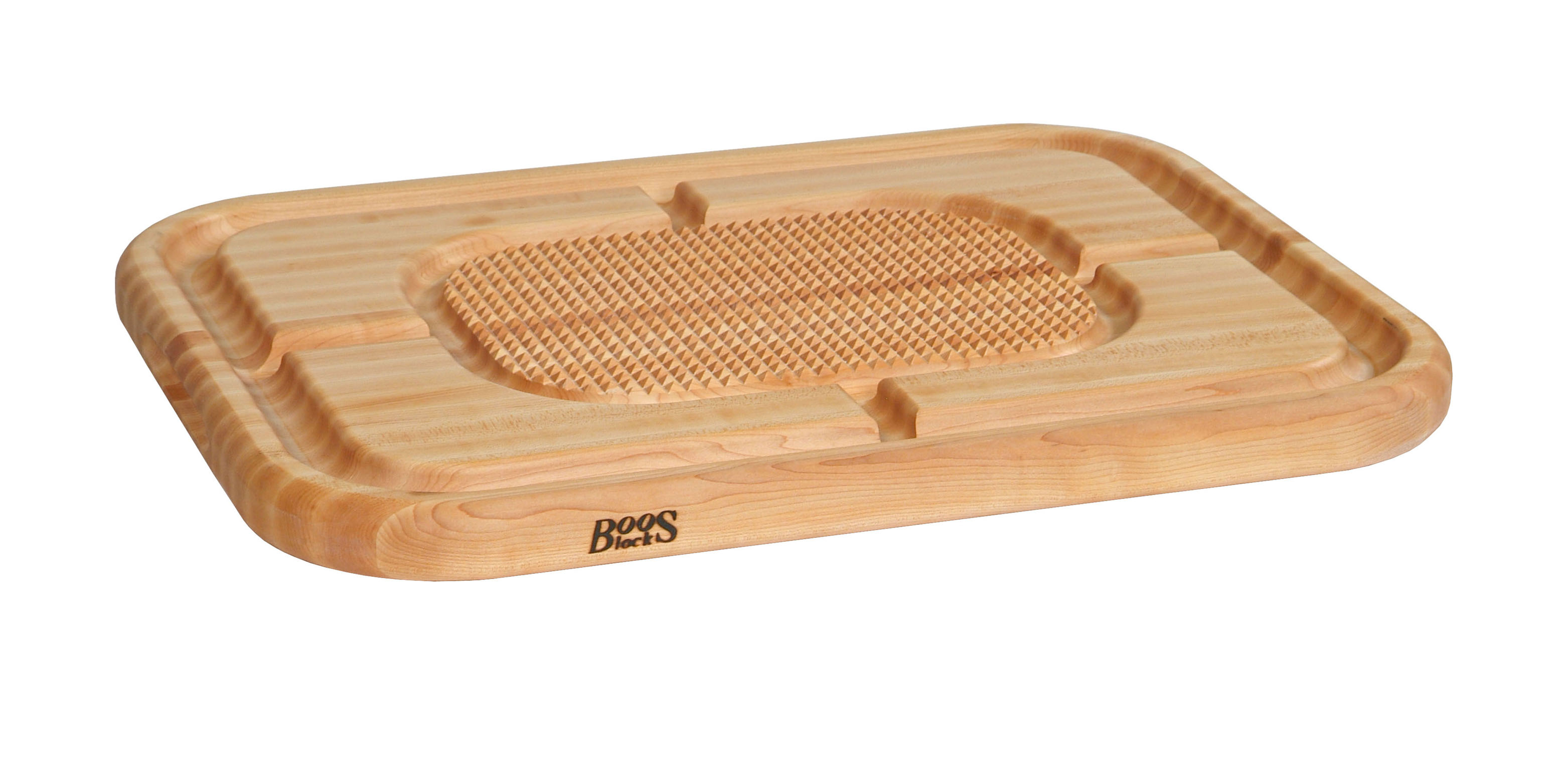 Boos Mayan Maple or Walnut Carving Board - Mini Pyramids, Grooved
