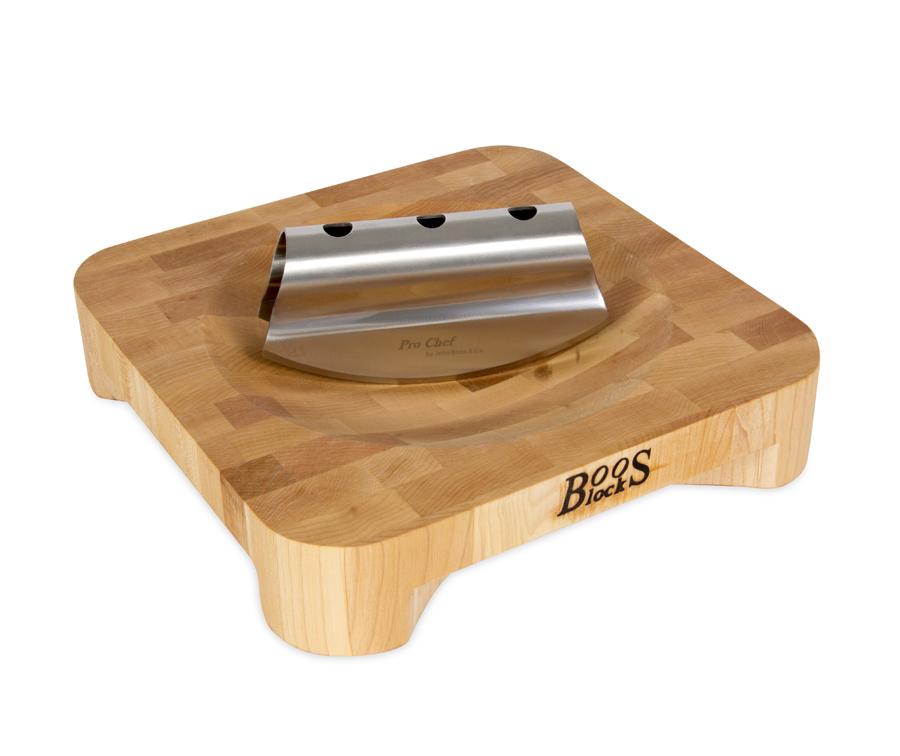 Mezzaluna Herb Board Set - Includes Double-Bladed Rocking Knife
