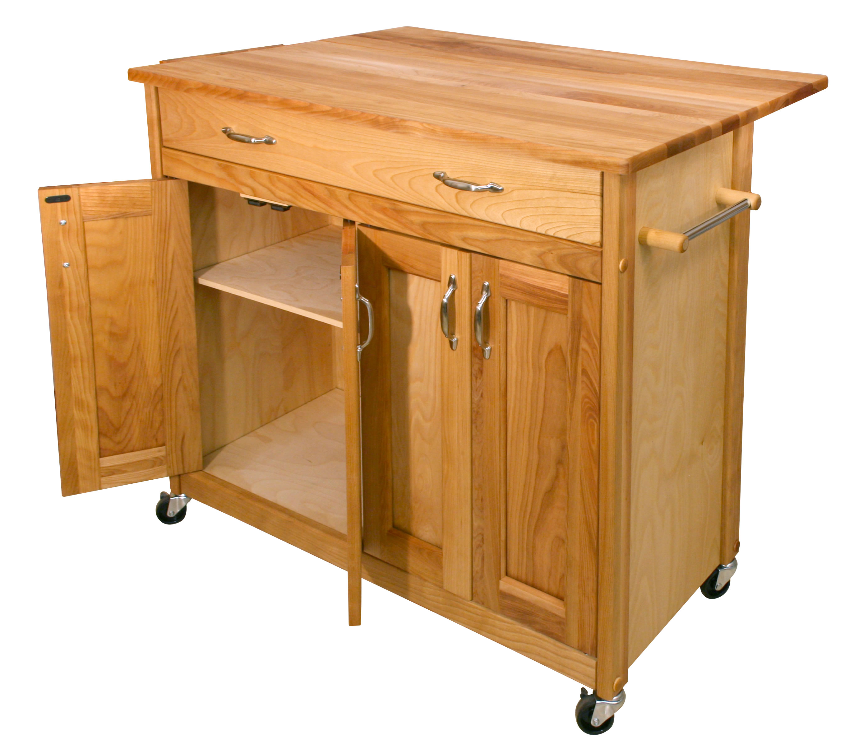 catskill mid sized kitchen island cart w drop leaf. Black Bedroom Furniture Sets. Home Design Ideas