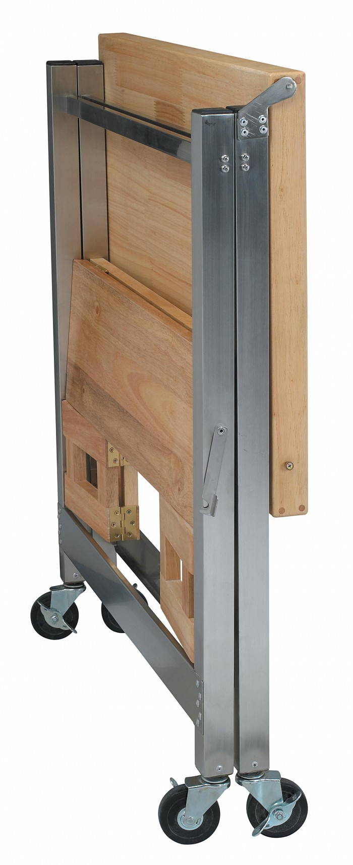 Stainless Steel And Wood Kitchen Cart 30 X 20 In