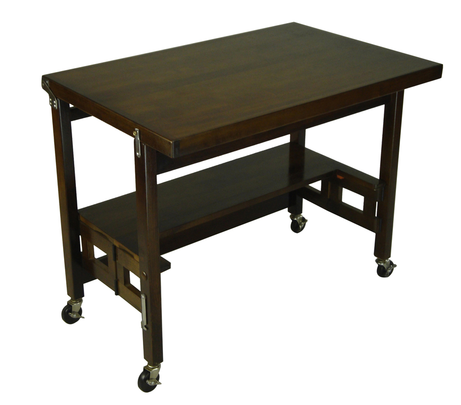 Oasis Concepts Walnut-Finish Flip & Fold Table - 36