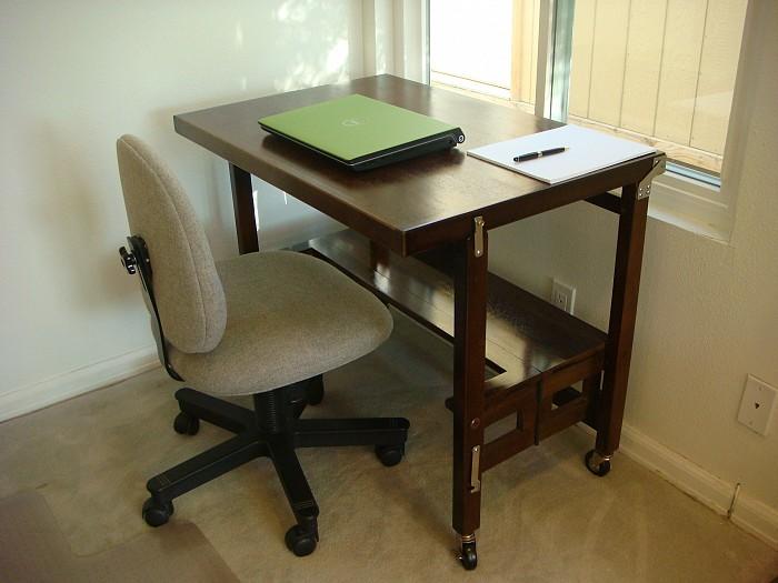 Walnut kitchen island dining table folds up - Fold away kitchen island ...
