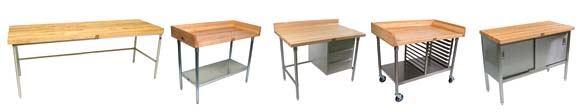 Boos Maple-Top Bakers Work Tables