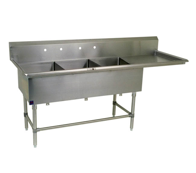 Utility Sinks With Drainboards : three-bowl-bakery-utility-sink-with-drainboard.jpg