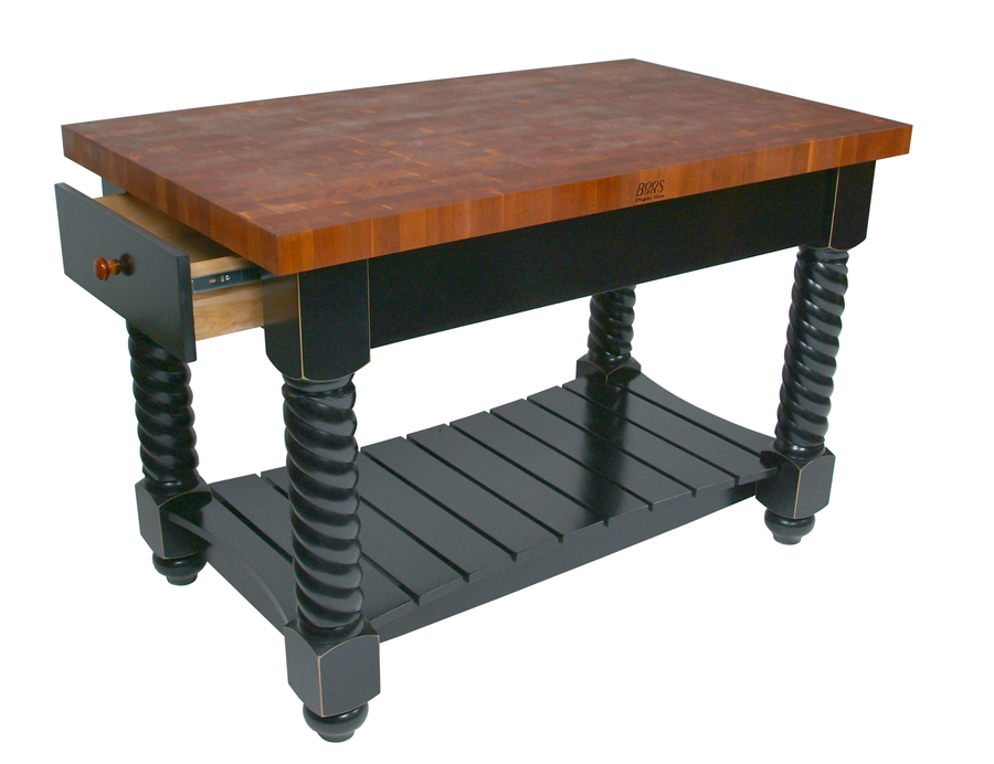 John Boos End-Grain Cherry Tuscan Isle Kitchen Island