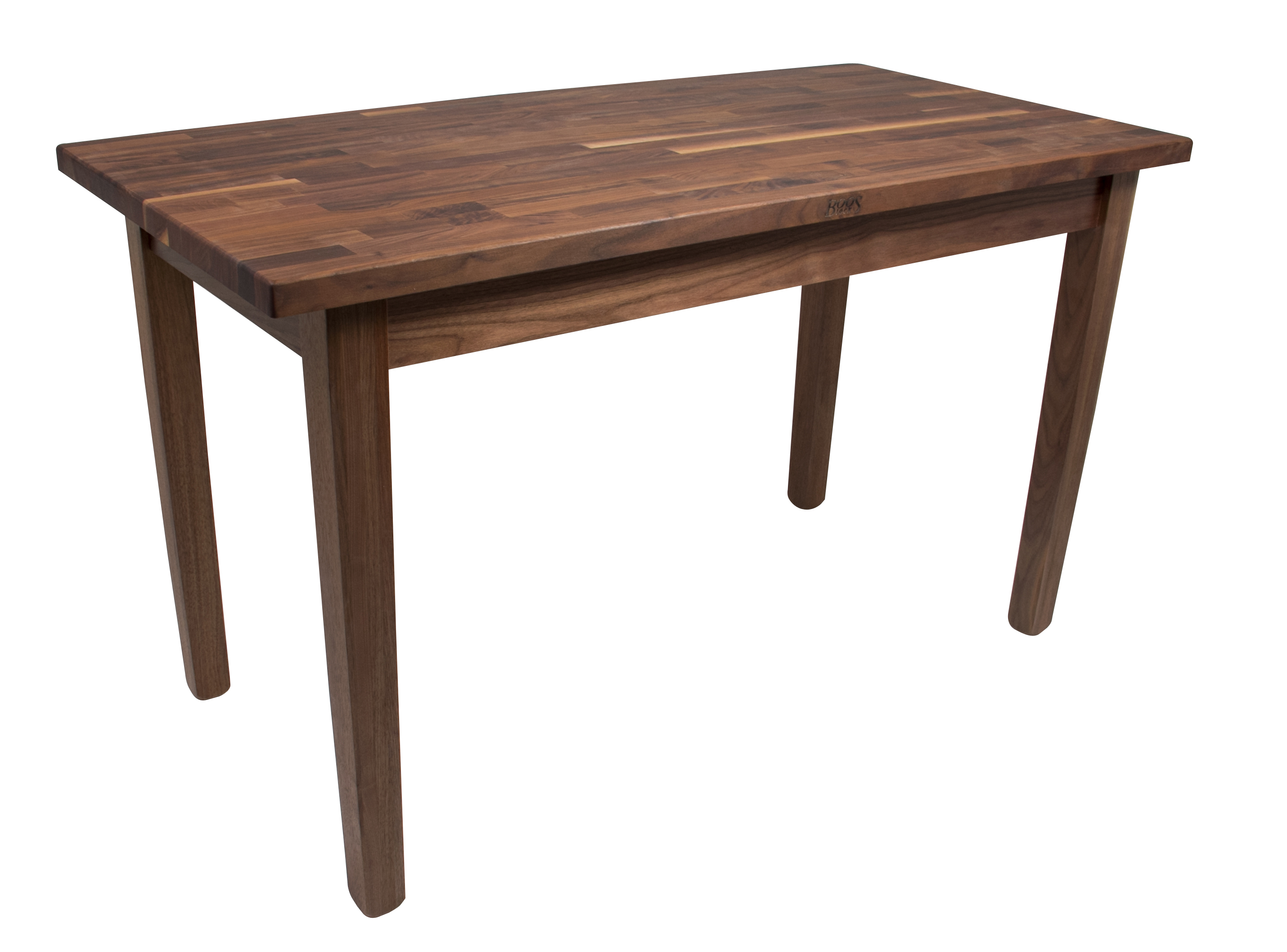 John Boos Blended-Grain Walnut Country Work Table