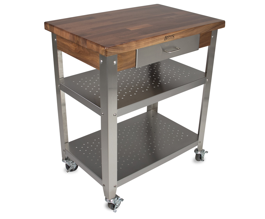 John Boos Walnut Cucina Elegante Kitchen Cart