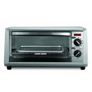 2.Black & Decker 4-Slice Toaster Oven, Silver