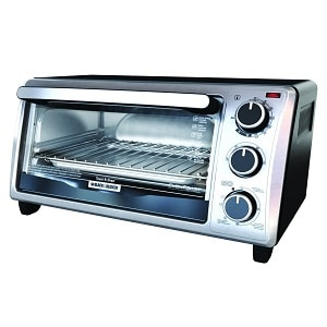 3.BLACK+DECKER TO1303SB 4-Slice Toaster Oven, Silver