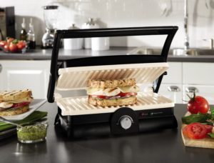 1.Oster DuraCeramic Panini Maker and Grill
