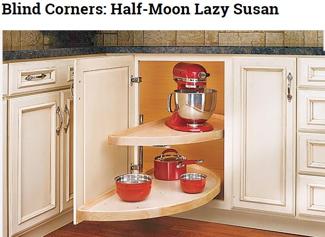 Half Lazy Susan good for blind corners