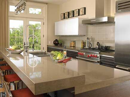 Cambria quartz countertops in a modern kitchen.