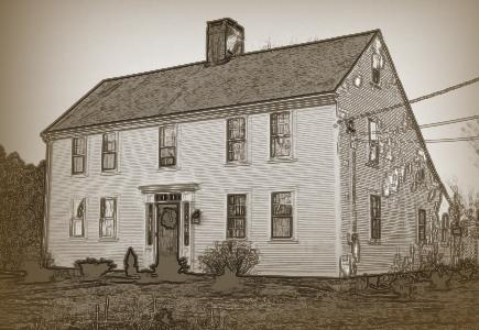 Saltbox Style House