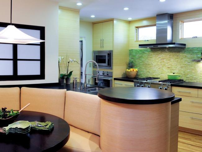 NKBA award winning Japanese inspired small kitchen design