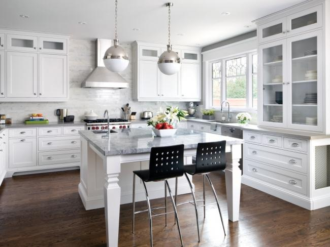 NKBA Award Winning Contemporary Vintage Large Kitchen Design