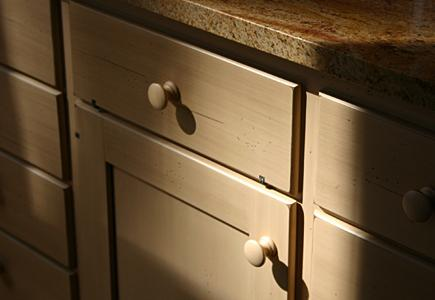 Close up of wood cabinets
