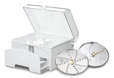 food processor attachments like a juliette disc, shreding disc, grating disc