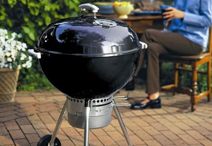 A Weber Charcoal Grill