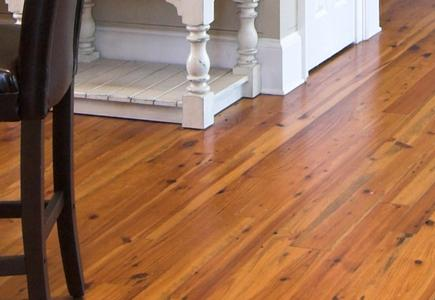Close up of laminate flooring