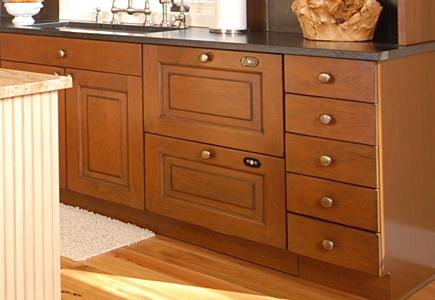 Wood Cabinet With Drawers