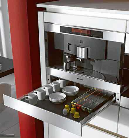 Miele built-in coffemaker.