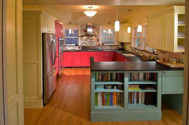 Colorful and Custom Kitchen Backsplash